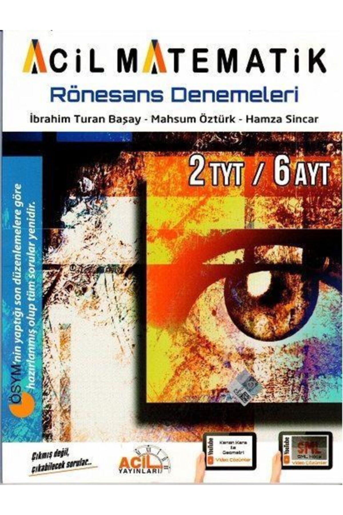 Acil Yayınları Tyt Ayt Acil Matematik Rönesans Denemeleri 2020 2
