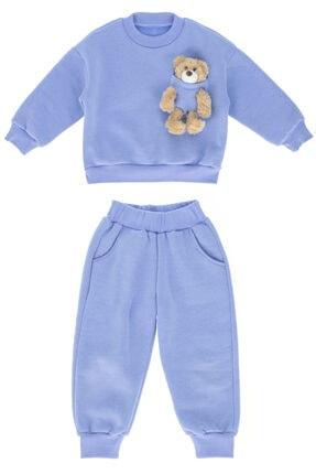 Kids Of Heart Bebek Mavi Ayıcıklı Çoçuk Eşofman Takımı