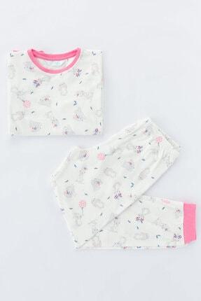 Penti Çok Renkli Kız Çocuk Bunny Termal 2li Pijama Takımı