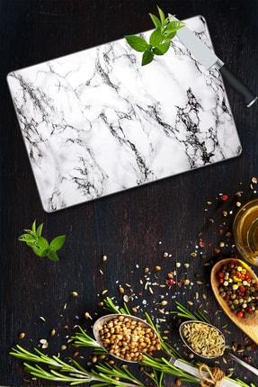Saban (30cm X 40cm) Beyaz Mermer Cam Kesim Tablası