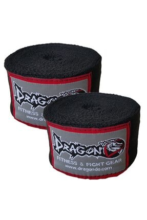 Dragon Boks, Kick Boks Ve Muay Thai Bandajı 5 Metre Siyah