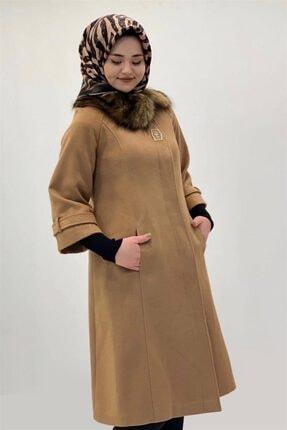 Armine Kadın Camel Kaşe Kaban