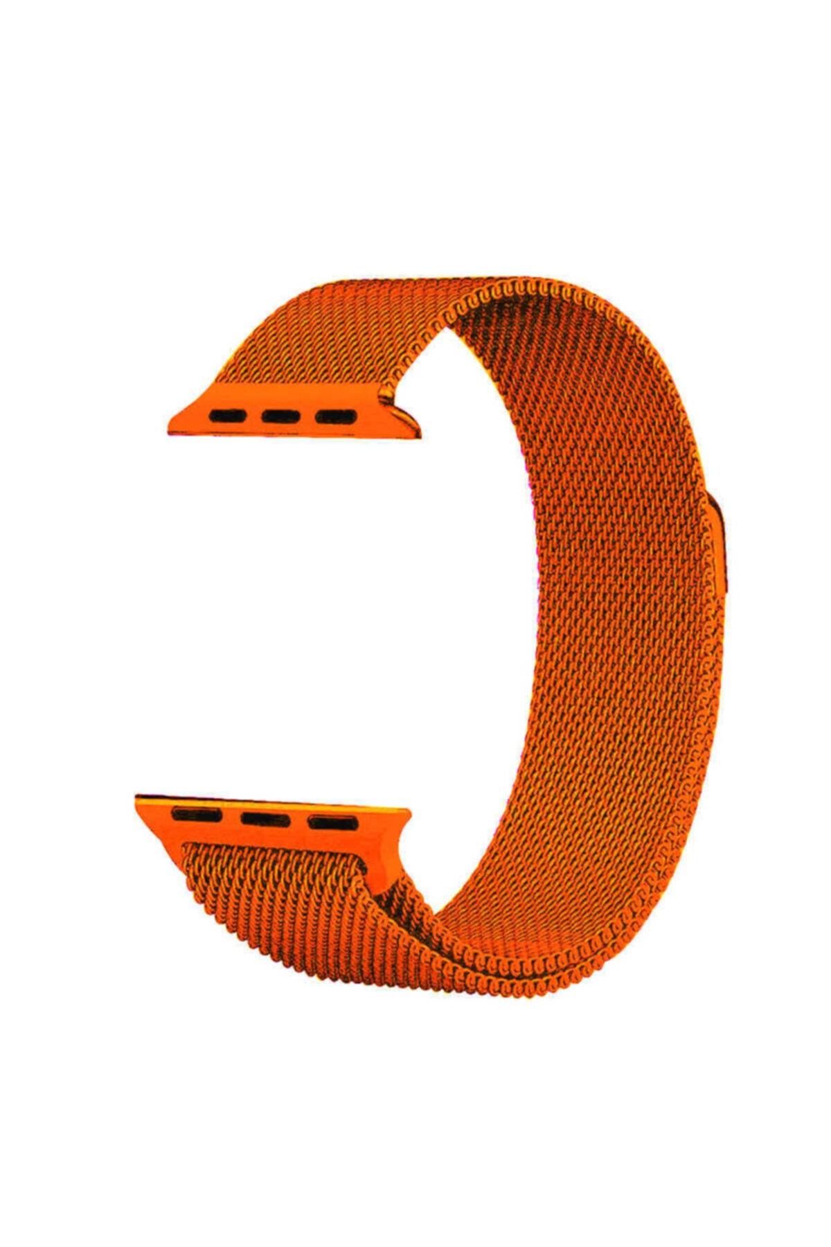 zore Apple Watch 40mm Krd-01 Metal Kordon Turuncu 1