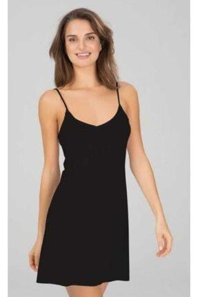 NBB Kadın Siyah  Elbise Jipon Astar 3851