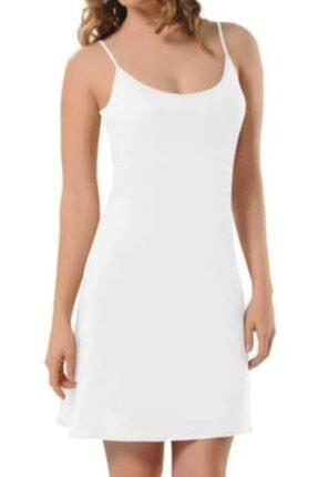 NBB Kadın Beyaz 3851 Elbise Jipon Astar