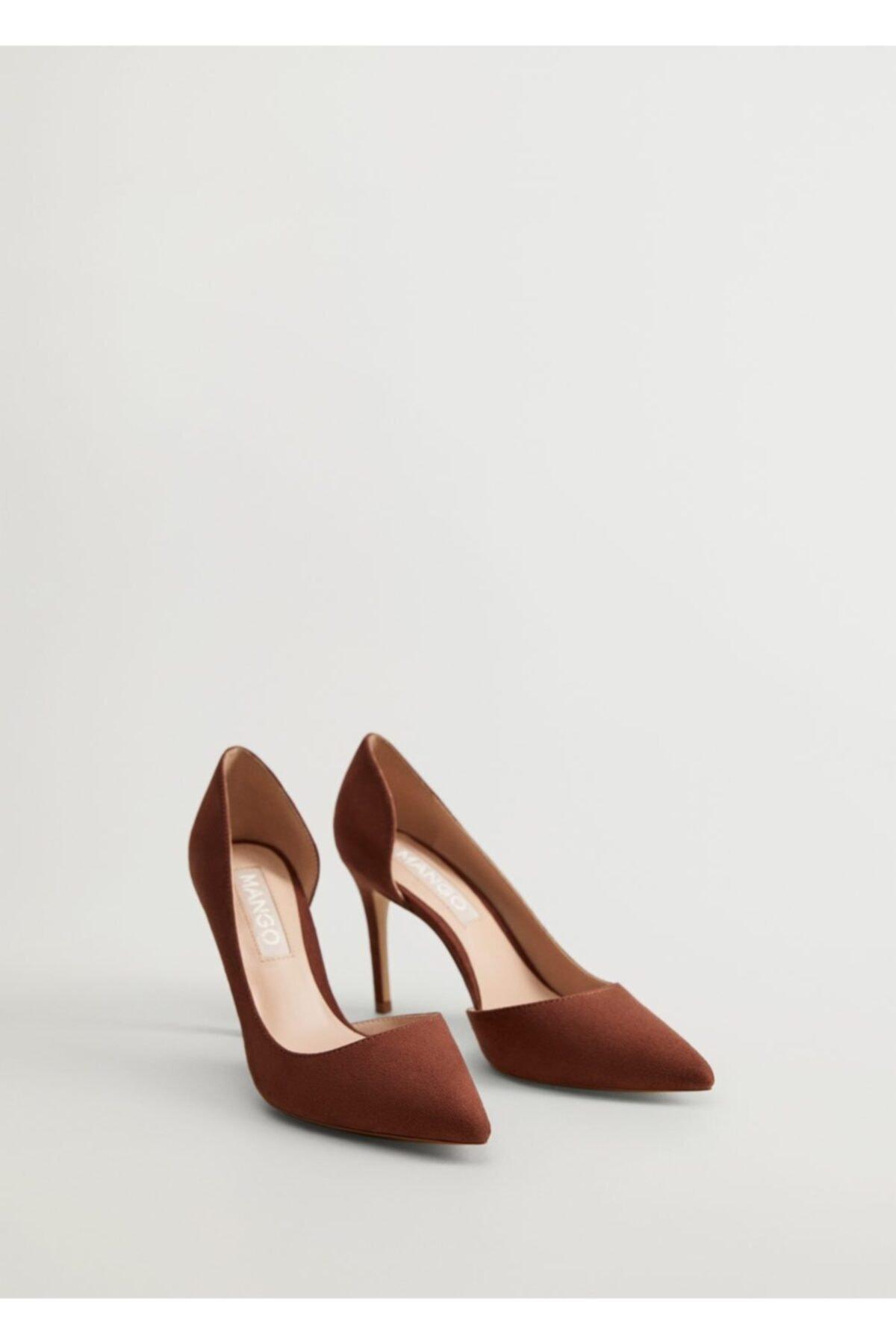 MANGO Woman Kadın Uçuk Pembe Asimetrik Stiletto Ayakkabı 63173047 1