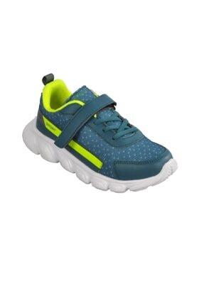 Cool Petrol-f.Çocuk Sarı Mavi Spor Ayakkabı 20-s02