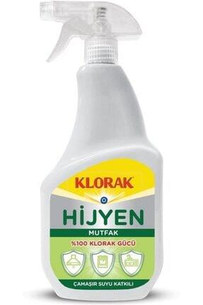 Klorak Hijyen Mutfak Temizleyici Çamaşır Suyu Katkılı Sprey 750 ml.