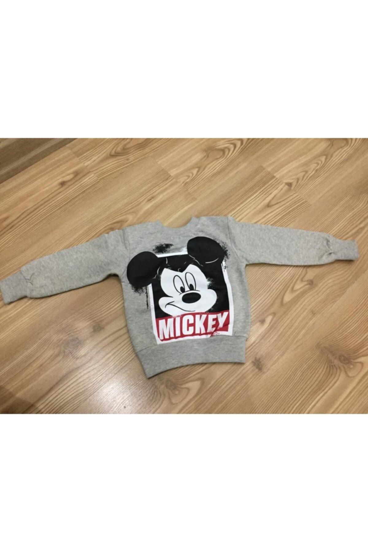 Mickey Mouse Erkek Çocuk Gri Baskılı Eşofman Takımı 2