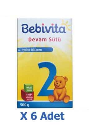 Bebivita Devam Sütü 2 Numara 6 Lı Paket 3 kg