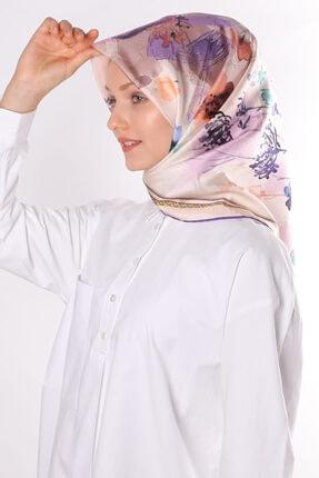Silk Home Kadın Mor %100 Twill Ipek Eşarp