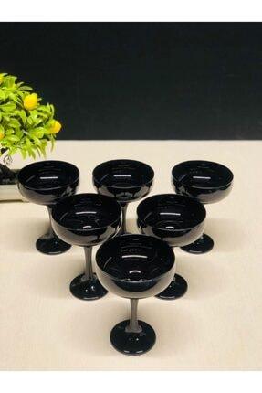LAV Siyah Ikramlık Dondurmalık 6'lı Cam Sunum - Mıs550 - 751