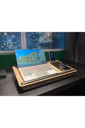 Axolotl Telefon Ve Tablet Bölmeli Minderli Laptop Sehpası Notebook Bilgisayar Çalışma Masası