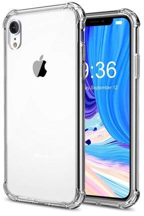 Apple Iphone Xr Kılıf Darbelere Dayanıklı Sert Silikon Şeffaf