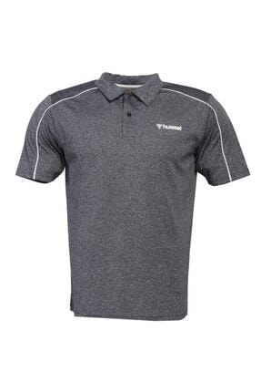HUMMEL 911101 Erkek Gri Polo Yaka T-shirt