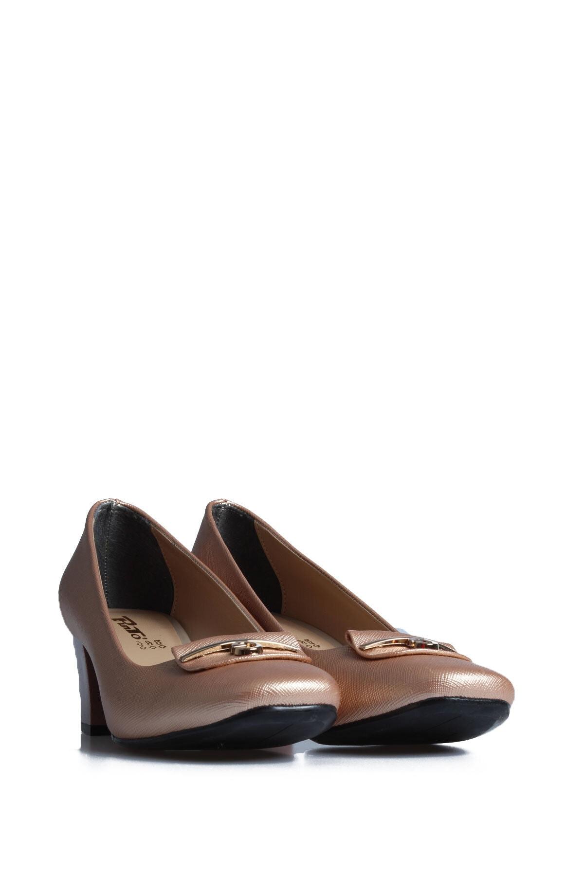 PUNTO Kadın Rose Günlük Topuklu Ayakkabı 1