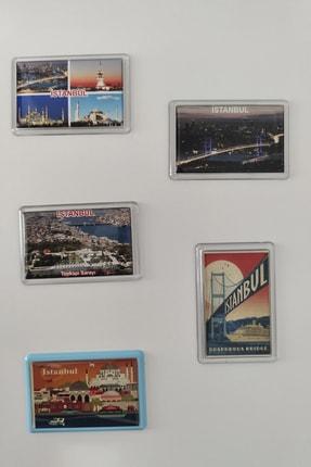 AKINERLER Istanbul Temalı Damlalı Buzdolabı 5'li Magnet Seti