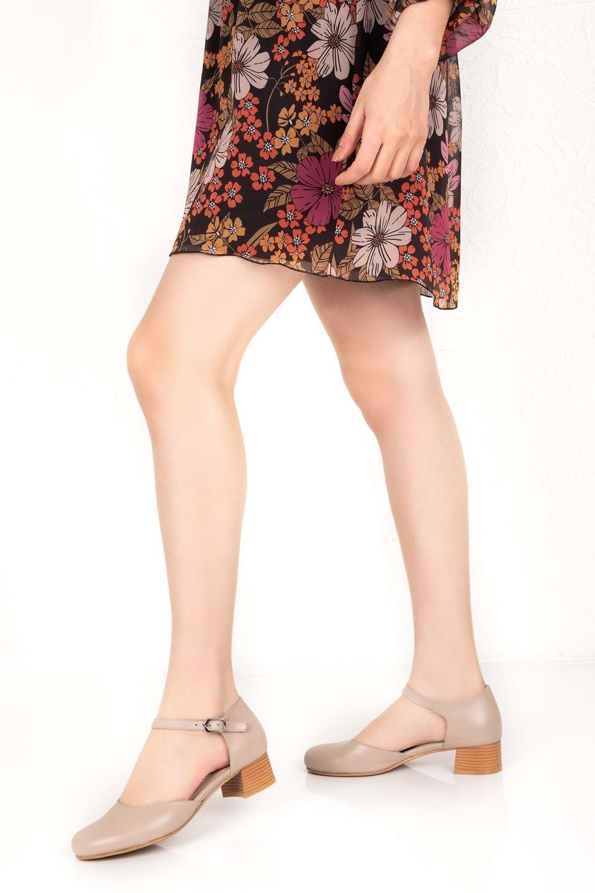 Gondol Kadın Vizon Hakiki Deri Günlük Ayakkabı 2