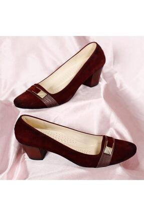 PUNTO Kadın Bordo Mevsimlik Topuklu Ayakkabı