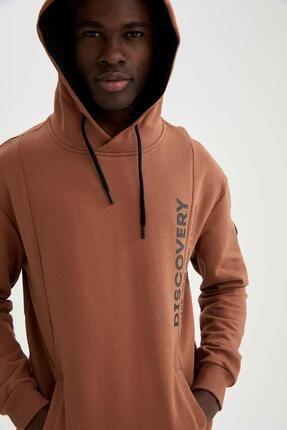 DeFacto Kapüşonlu Yazı Baskılı Oversize Fit Sweatshirt