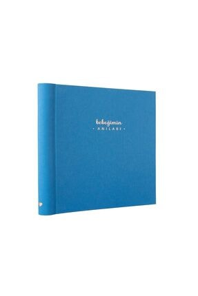 Lopapen Gök Mavisi Bebeğimin Anıları - Bebek Anı Defteri Ve Fotoğraf Albümü - 22 X 22 Cm.