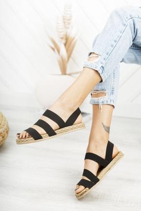 Deripabuc Siyah Kadın Sandalet Dp21-0035