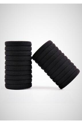 H&E DESIGN 24 Lü Siyah Lastik Toka Seti