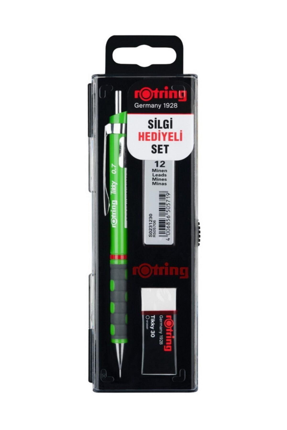 Rotring Yeşil Tikky Uçlu Kalem Okul Seti 0.7 1