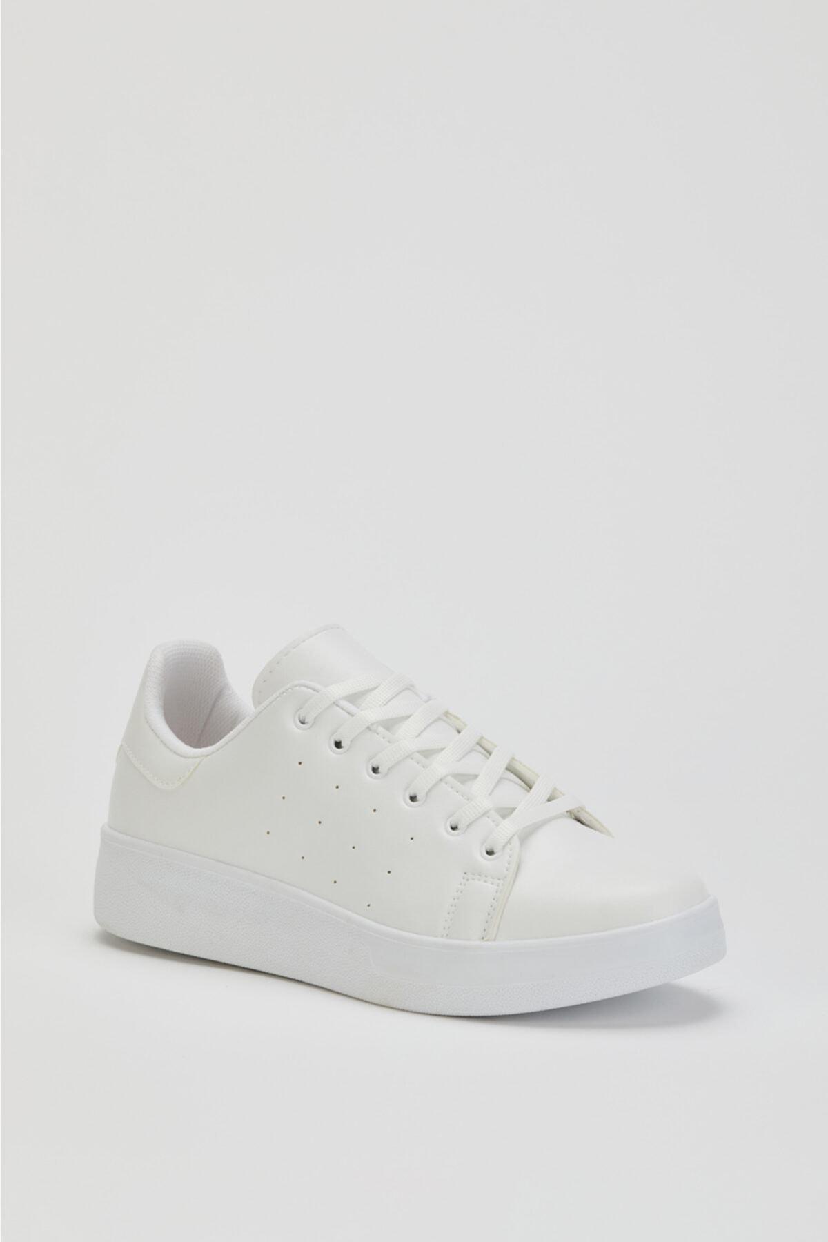 MUGGO Unisex Beyaz Sneaker Ayakkabı Svt21 1
