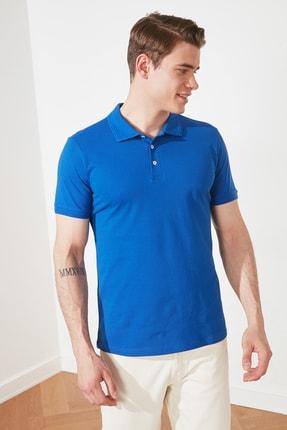 TRENDYOL MAN Saks Erkek Slim Fit Polo Yaka Kısa Kollu Polo Yaka T-shirt TMNSS20PO0009