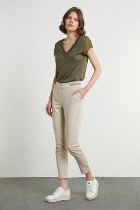 Network Kadın Slim Fit Taş Bant Detaylı Pantolon 1079117