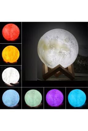 Hormiga 35cm 3d Ay Şeklinde Standlı Dokunmatik 6 Renk Değiştiren Gece Lambası