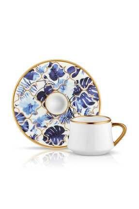 Koleksiyon1 Mavi Sufi Türk Kahve Seti 6 Lı Amazon