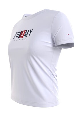 Tommy Hilfiger Kadın Beyaz T-Shirt Tjw Regular Tımeless Box Tee DW0DW09809