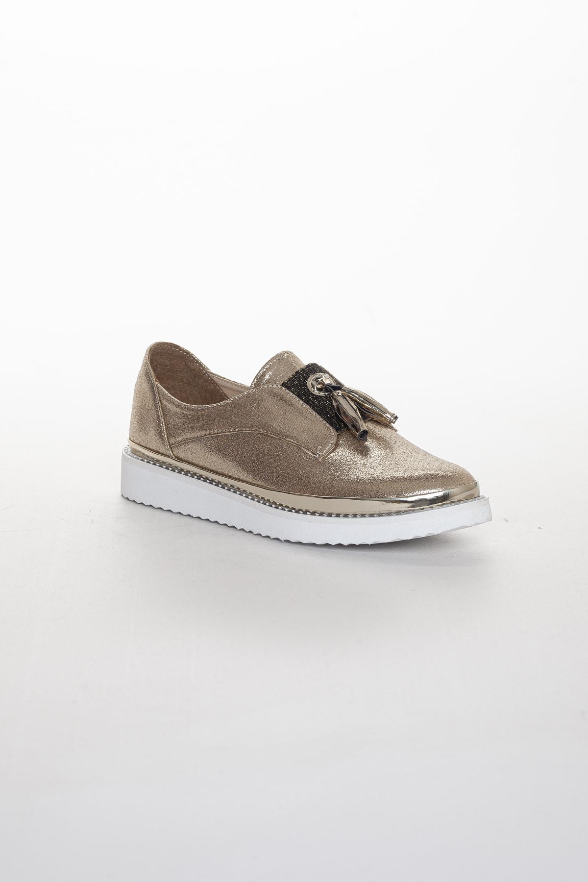 Odal Shoes Kadın Gold Oxford Spor Ayakkabı Püsküllü05012020 1