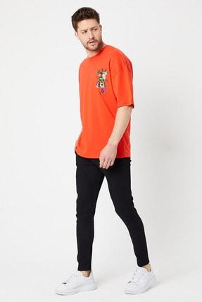 BREEZY Robot Fare Baskılı T-shirt Kırmızı Renk 00988