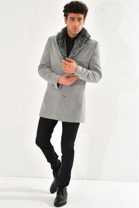 Efor PLT 064 Slim Fit Gri Klasik Palto