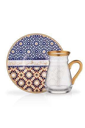 Glore Nihavent 12 Parça Kulplu Çay Bardağı Seti Cesminaz