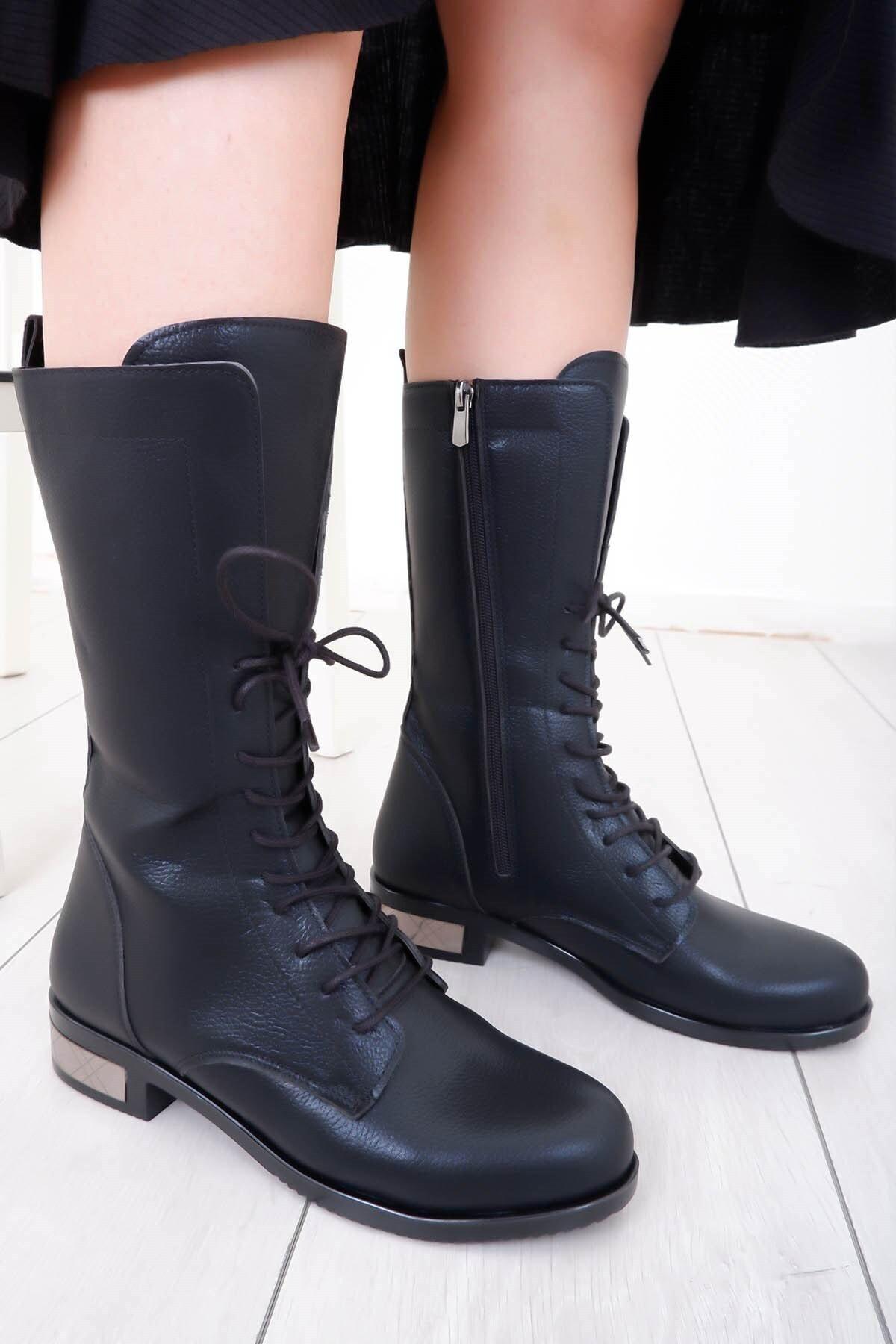 Tinka Bell Shoes K54 Kadın Bot Siyah 1