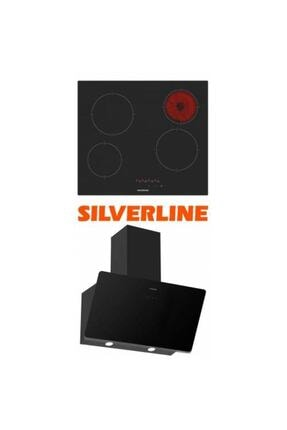 Silverline 2'li Siyah Cam Ankastre Set Vc5446b01 - 3457 Soho 60 Cm