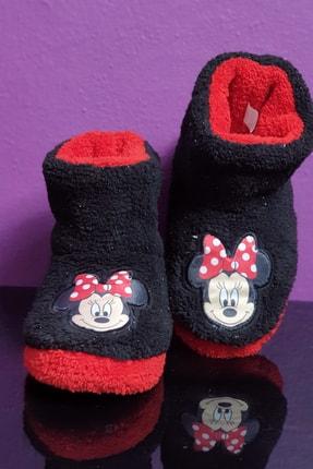 MorHanem Minnie Mouse Lisanslı Simli Kız Çocuk Panduf Ses Yapmayan Taban