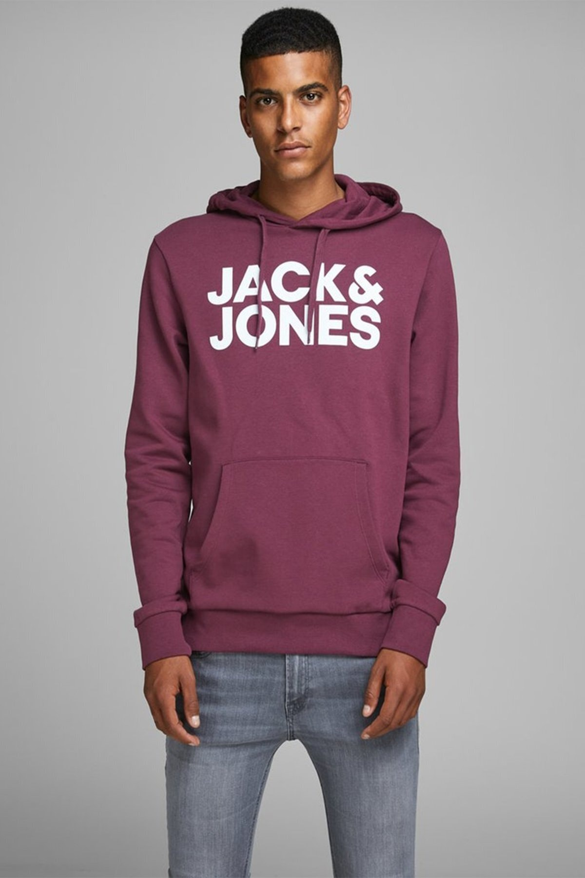Jack & Jones Jack Jones Jjecorp Logo Sweat Hood 12152840 1