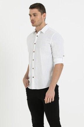 Loft Erkek Regular Fit Beyaz Gömlek Lf2010395