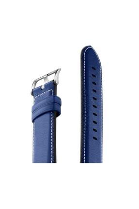 Huawei Watch Orijinal Deri Kordon 42mm & 46mm Koyu Mavi