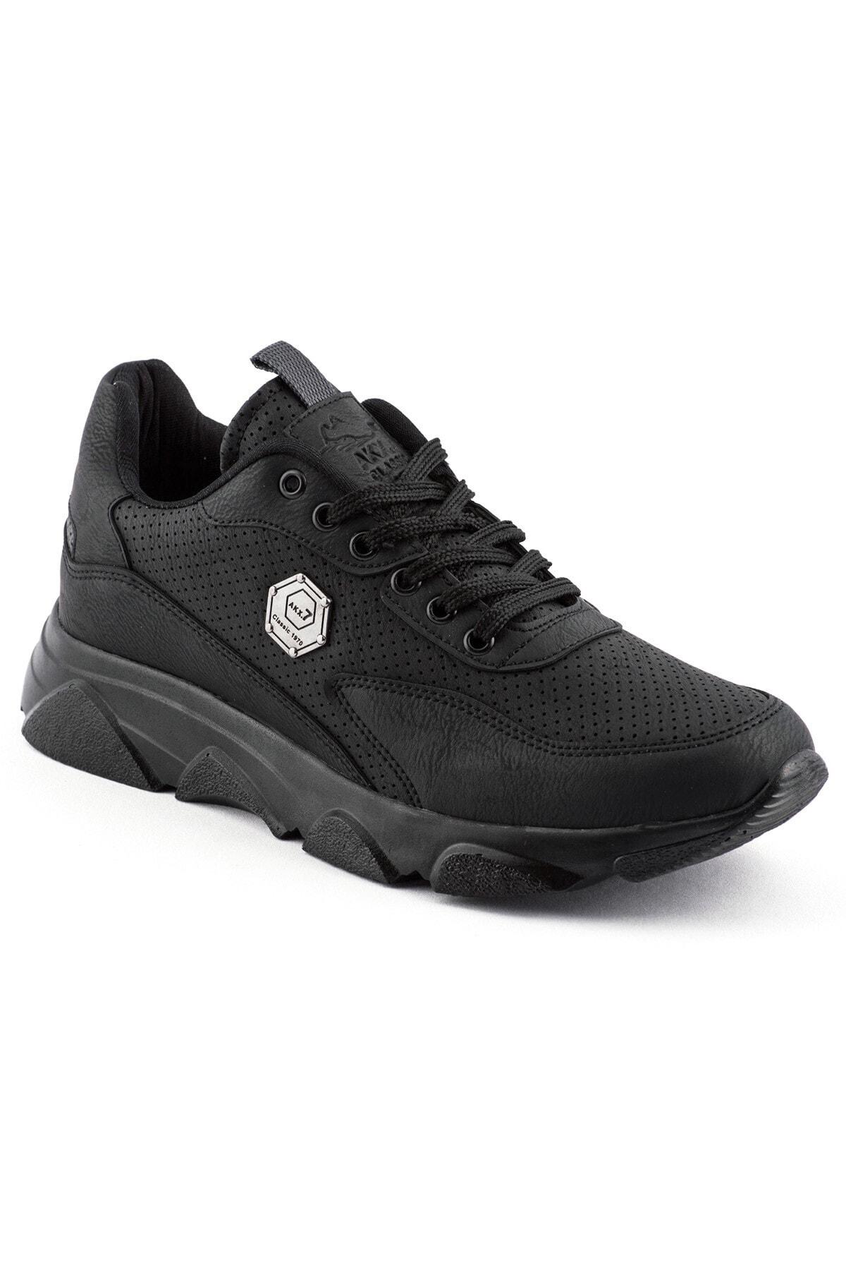 L.A Polo 135 Siyah Siyah Erkek Spor Ayakkabı 1