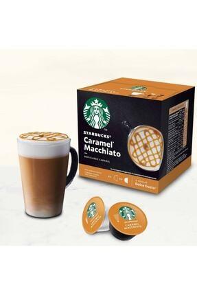 Nescafe Starbucks Macchiato Caramel 12x Kapsül Kahve Menşei Alman