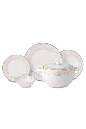 KORKMAZ Beyaz 60 Parça Yemek Takımı A8366