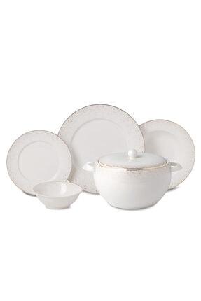KORKMAZ Beyaz 60 Parça Yemek Takımı A8364