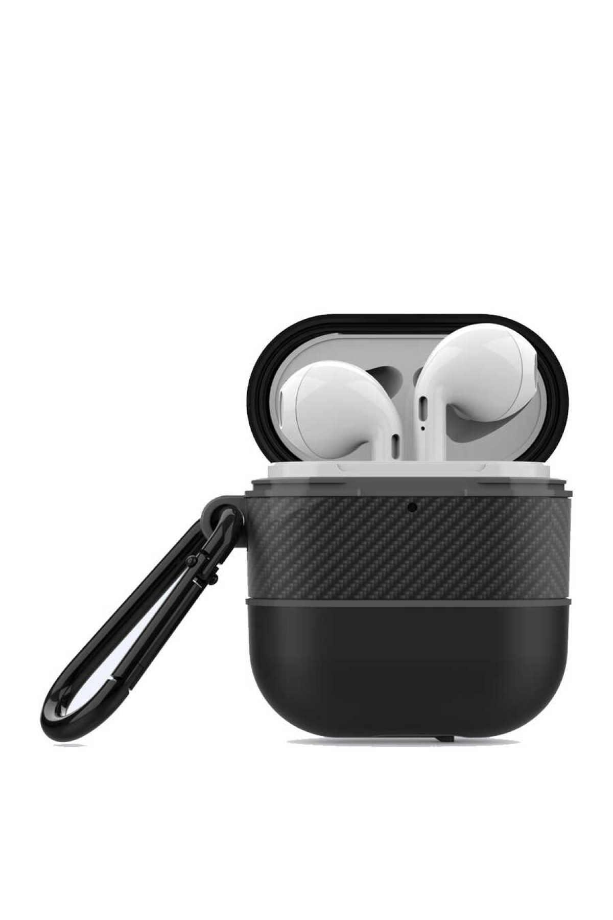 zore Apple Airpods Kılıf Airbag 16 Zırh Su Geçirmez Askılı Şarj Kutusu Koruyucu 1