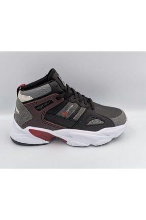 MP Spor Basketbol Ayakkabısı Siyah Bordo Kalın Taban Bilek Boy Orjinal Ayakkabı